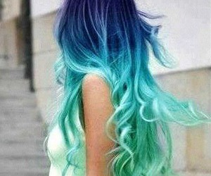 blue, hair, and colours image