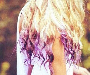 colours, hair, and purple image