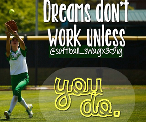 dreams, green, and softball image