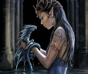 dragon, fantasy, and water image