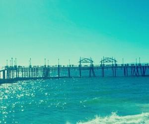 beach, sea, and california image