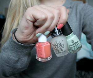 nails, nail polish, and tumblr image