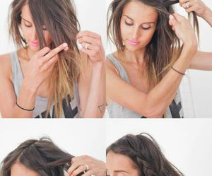 hair, hairstyle, and look image