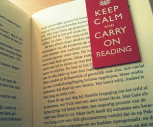 book, bookmarker, and keep calm image