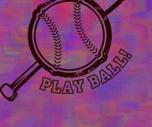 background, pastel, and baseball image