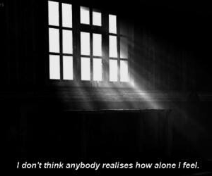 alone, sad, and quote image