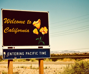 california and sign image
