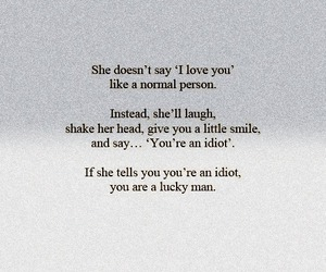 love, idiot, and quote image