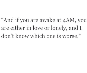 love, lonely, and quote image