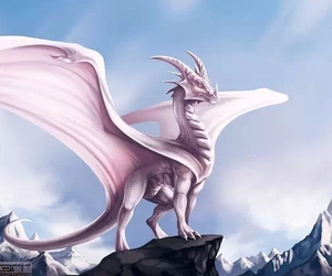 beautiful, cliff, and dragon image