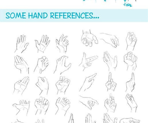 drawing, hands, and tips image