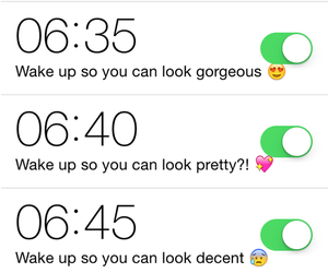alarm, morning, and pretty image