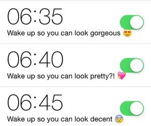 alarm, fun, and funny image