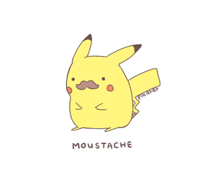 pikachu, moustache, and pokemon image