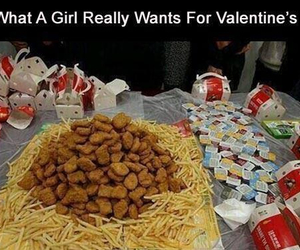 fries, yum, and chicken nuggets image