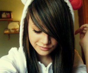 girl, hello kitty, and piercing image