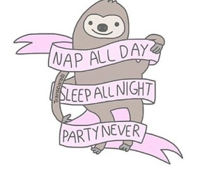 nap, party, and sleep image