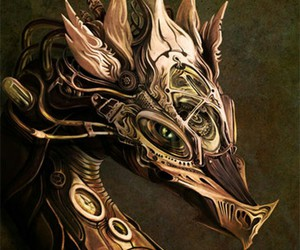 dragon and steampunk image