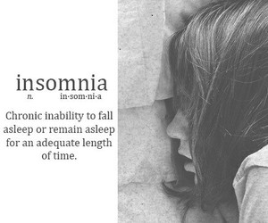 insomnia, quote, and sleep image