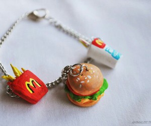 food, McDonalds, and bracelet image