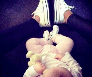 baby, cute, and converse image