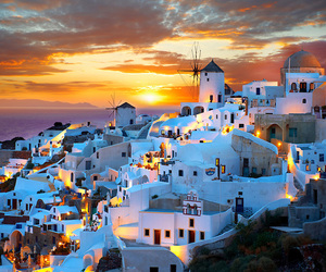 Greece and sunset image