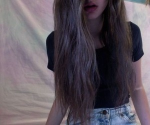 girl, grunge, and hair image