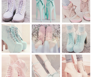 boots, mint, and pastel colors image