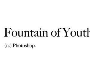 black and white, definition, and fountain of youth image