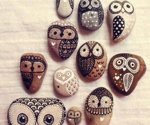 owl, stone, and rock image