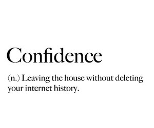 black and white, confidence, and definition image