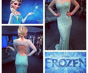 frozen, dress, and elsa image