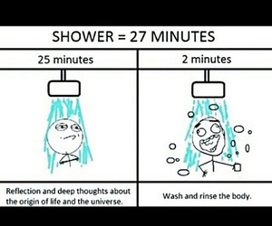 funny, life, and shower image