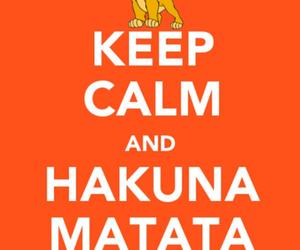 hakuna matata, keep calm, and lion king image