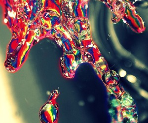 water, rainbow, and colorful image