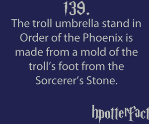 harry potter, harry potter facts, and hpotterfacts image