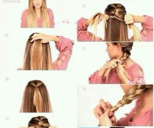 blond, tuto, and hair image