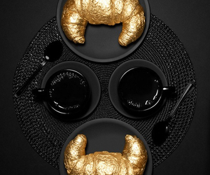 gold, black, and coffee image