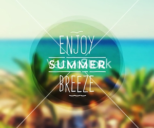 summer, beach, and breeze image
