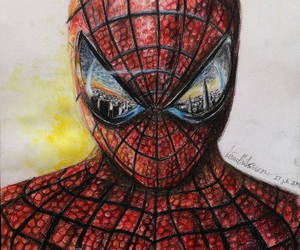 art, drawing, and spiderman image