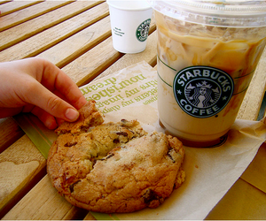 starbucks, cookie, and food image