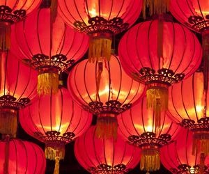 light, china, and red image