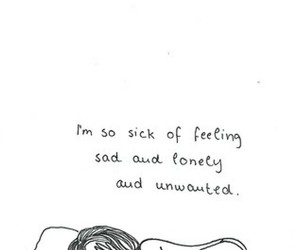 sad, lonely, and unwanted image