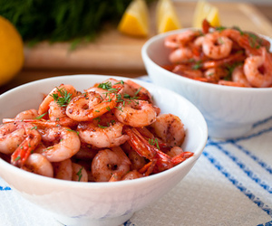 shrimp, food, and delicious image