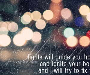 coldplay, light, and fix you image