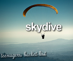 bucket list, before i die, and skydive image