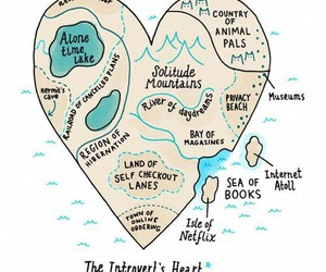heart, introvert, and map image