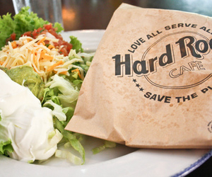 food, hard rock cafe, and delicious image