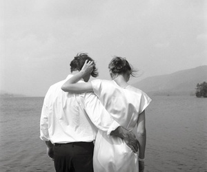 couple and black and white image