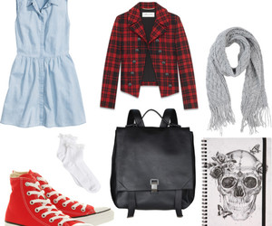 backpack, converse, and dress image
